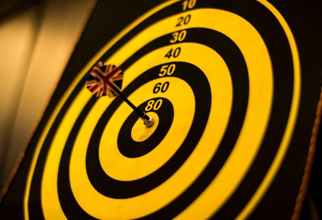 Hier ist eine Zielscheibe zu sehen, die Deine Vision ausdrückt