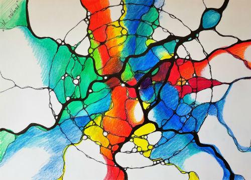 Du selbst Mandala Neurographik
