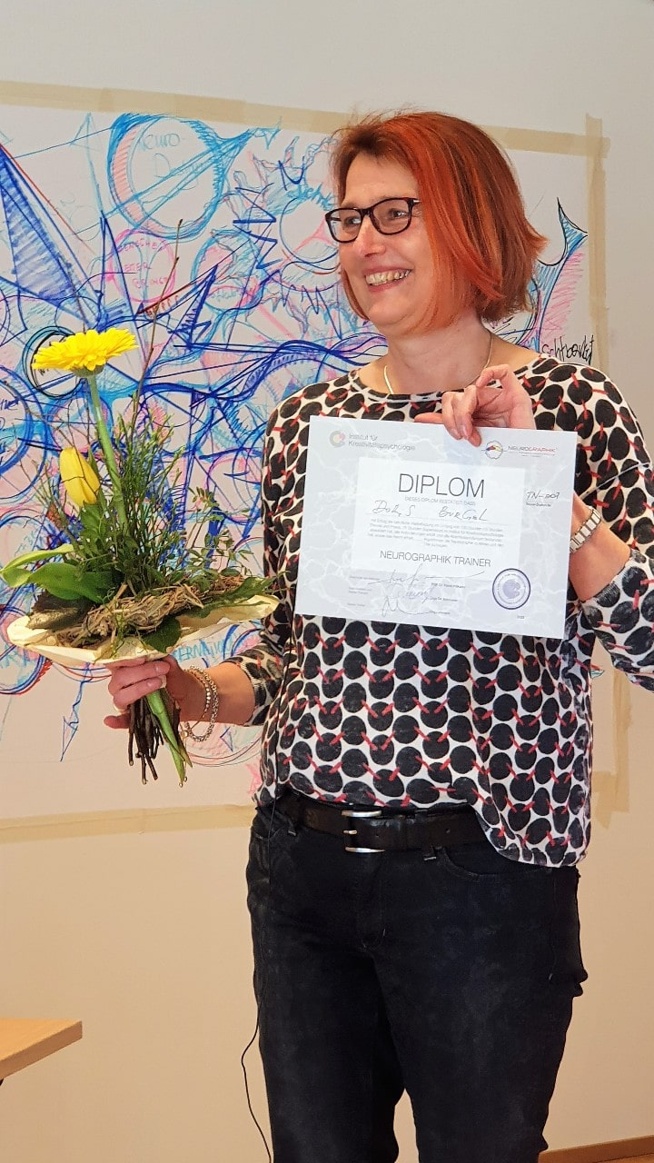 Doris Bürgel mit Diplom Neurographik Trainerin